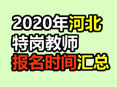 2020年河北特岗教师报名时间及入口职