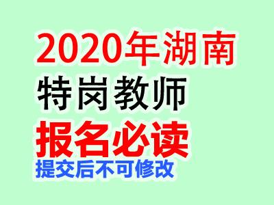 2020年湖南特岗教师网上报名须知(提交后不可修改)