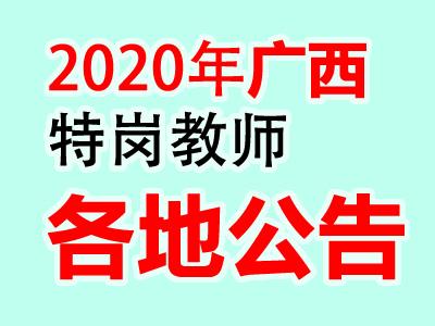 2020广西特岗教师招聘方案汇总(含各