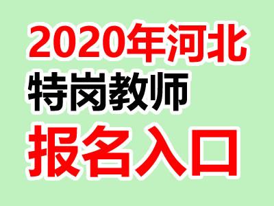 2020年河北特岗教师报名入口网址:www.hbte.com.cn
