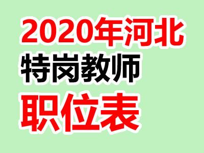 2020年河北特岗教师职位表信息下载(官方word版本)