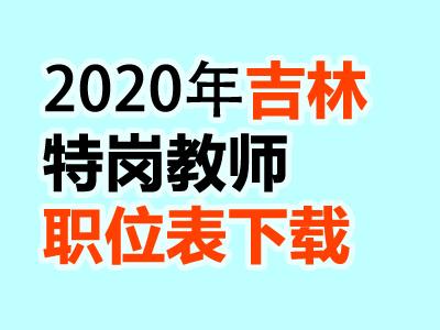 吉林省2020年特岗教师岗位设置表汇总下载