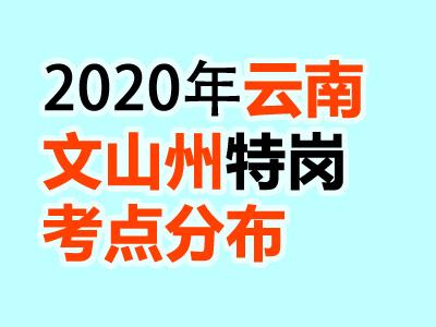 2020云南文山州各县份特岗教师招聘笔试考场详细情况分布(汇总)