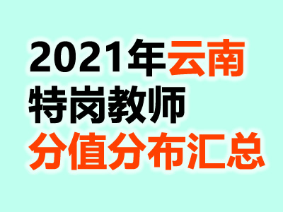 2021年云南特岗教师考试各学科分值分布汇总