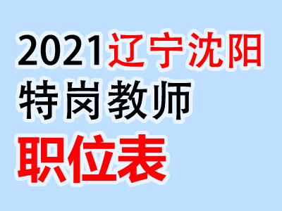 2020年沈阳市特岗教师特设岗位计划招聘岗位表汇总