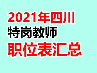 2021年四川特岗教师招聘岗位表汇总(