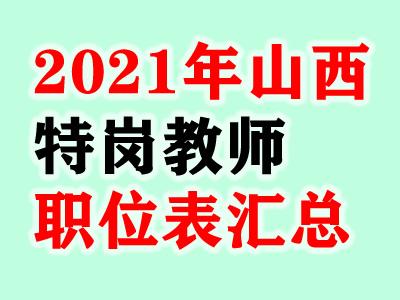 2021年山西省特岗教师招聘岗位职位表汇总(3800人)