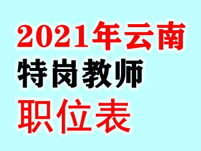 云南省2021年特岗教师招聘岗位计划表.xls