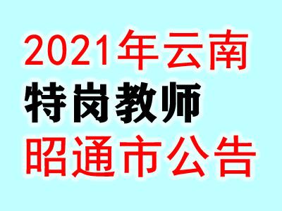 2021云南昭通市中央特岗教师招聘31人公告