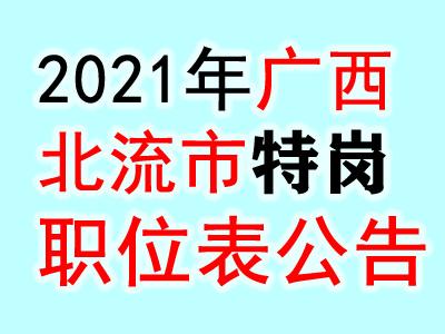 2021广西玉林市北流市招聘特岗教师700人职位表公告