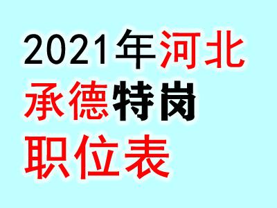 2021河北承德特岗教师招聘职位表(
